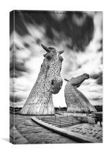 The Falkirk Kelpies, Canvas Print