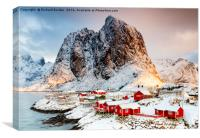 Morning Light On Hamnoy Village, Lofoten Islands, Canvas Print