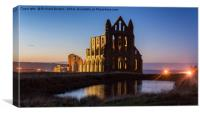 Whitby Abbey Sunset, Canvas Print