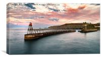Summer Sunset, Whitby, Canvas Print