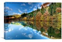 Dalby In Autumn, Canvas Print