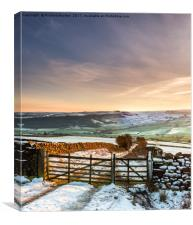 Sunset Over Danby Dale, Canvas Print