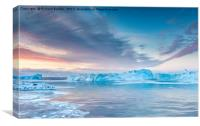 Sunrise Over The Kangia Icefjord In Greenland, Canvas Print