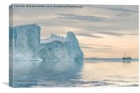 Towering Icebergs, Canvas Print