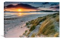 Sunset at Balnakeil Bay, Canvas Print