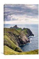 Dun From Cnoc Sgar, St. Kilda, Canvas Print