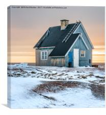 The Blue House at Rodebay, Canvas Print