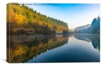 Staindale Lake in Autumn, Canvas Print