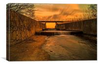 Weir Sunset, Canvas Print