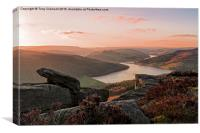 Bamford Edge View, Canvas Print