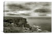 Cliff Top View, Dunnet Head, Scotland, Canvas Print