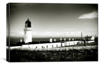 Lighthouse, Walled View, Canvas Print