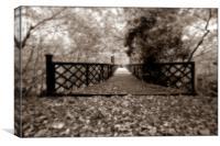 Leafy Bridge, Canvas Print