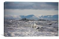 Winter at Trearddur Bay, Canvas Print