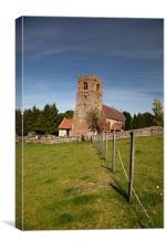 Bubbenhall village church, Canvas Print