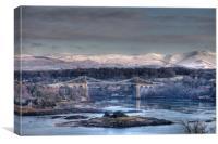 Menai Bridge, Canvas Print