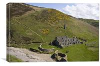 Porth Llanlleiana and the old brick works, Canvas Print