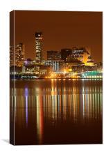 Liverpool night cityscape, Canvas Print