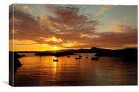 Sunset at Trearddur Bay, Canvas Print