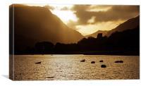 Llanberis Sunrise, Canvas Print