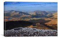 Views from Snowdon, Canvas Print