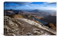 The Summit of Snowdon, Canvas Print
