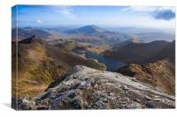 Snowdon Views, Canvas Print