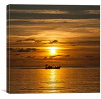 Trearddur Bay Sunset, Canvas Print
