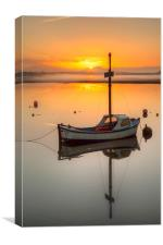 Boats in the sunrise, Canvas Print