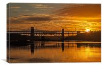 Brittania Bridge, Canvas Print