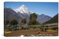 Views around Lukla, Canvas Print