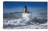 Rough seas at Rhosneigr, Canvas Print