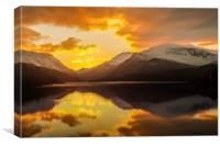 Llyn Padarn sunrise, Canvas Print