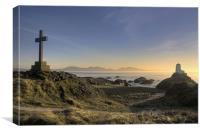 Sunset at Llanddwyn Island, Canvas Print