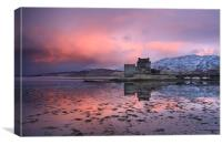 Eilean Donan Castle at sunrise, Canvas Print