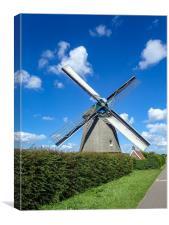 Netherland windmill, Canvas Print