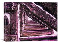 Groynes Abstract, Canvas Print