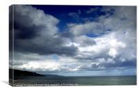 Antrim coastline., Canvas Print