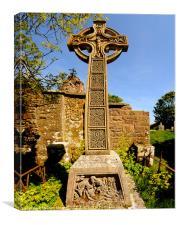 Celtic Cross Layd Church, Canvas Print