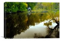 The Boathouse, Concord River, Canvas Print