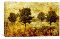 Four Trees, Canvas Print