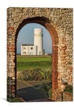 Old Hunstanton Lighthouse from St Edmunds Chapel, Canvas Print
