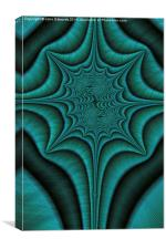 Green Malachite Abstract, Canvas Print