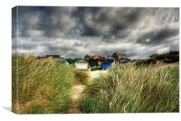 The gathering storm, Old Hunstanton, Norfolk, Canvas Print