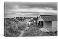Beach Huts near the Golf Club, Old Hunstanton, Canvas Print