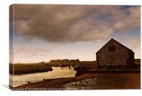 The Coal Barn at Thornham Creek, Canvas Print