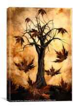 The song of Autumn, Canvas Print