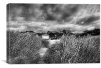 Gathering storm, Old Hunstanton, Norfolk, Canvas Print
