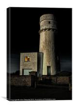 Hunstanton Lighthouse at night, Canvas Print