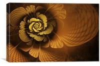Gilded Flower, Canvas Print